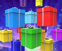 Stock Illustration of celebration giftboxes represents surprise gifts and party