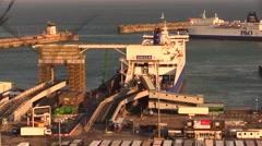 Ferries at the Port of Dover Stock Footage