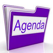 Stock Illustration of agenda file represents folders correspondence and plan