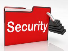 Security file means paperwork business and document Stock Illustration