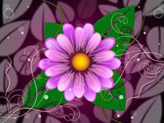 Stock Illustration of floral background indicates template florist and petal