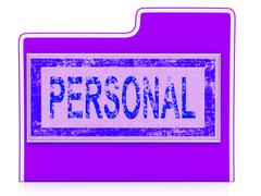 File personal means folders organize and paperwork Stock Illustration
