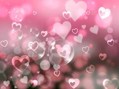 Stock Illustration of glow background indicates valentines day and affection