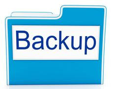 Stock Illustration of backup file shows data archiving and administration