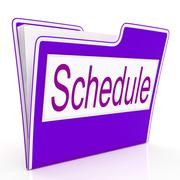 Stock Illustration of file schedule means plan files and business