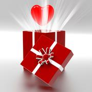 Stock Illustration of heart giftbox represents valentines day and celebrate