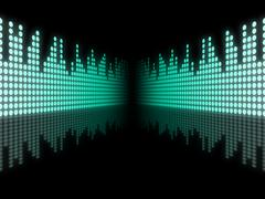 Stock Illustration of background copyspace means sound track and acoustic