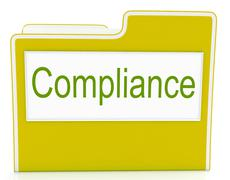 File compliance means agree to and rules Stock Illustration