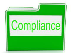 Compliance files shows agree to and comply Stock Illustration