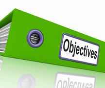 Stock Illustration of objectives file means correspondence business and intent