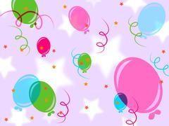 Stock Illustration of background balloons indicates design joy and parties