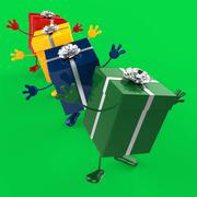 Stock Illustration of celebration giftboxes shows celebrations wrapped and gift-box