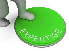 Expertise switch indicates experts ability and skill Stock Illustration