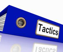 Tactics file indicates system course and techniques Stock Illustration