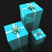giftboxes celebration indicates present joy and gift-box - stock illustration