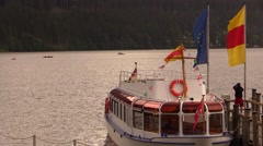 Ferry on the lake Stock Footage