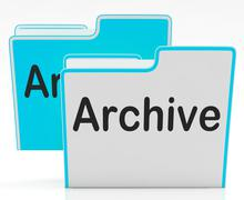 Files archive shows library storage and archives Stock Illustration