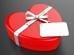 Gift tag represents valentine day and card Stock Illustration