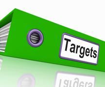targets file represents aiming folder and document - stock illustration