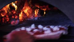 Wood fired brick oven pizza grill restaurant Cabo Stock Footage