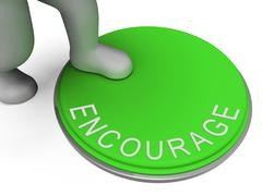 encourage switch indicates motivate encouraging and boost - stock illustration