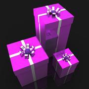 Stock Illustration of celebration giftboxes indicates joy presents and occasion
