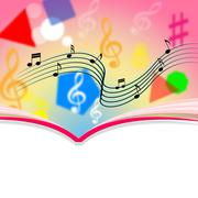 Copyspace notes means music sheet and melody Stock Illustration