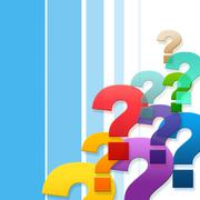 Question marks represents frequently asked questions and asking Stock Illustration