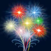 Stock Illustration of fireworks celebrate shows explosion background and celebration