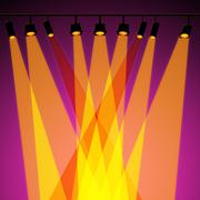 background spotlight represents stage lights and abstract - stock illustration
