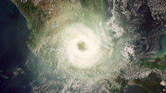 Tornado on Earth Space View Stock Footage