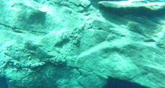 2D blue hole shelf floor Stock Footage