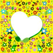 Stock Illustration of copyspace heart means valentines day and affection