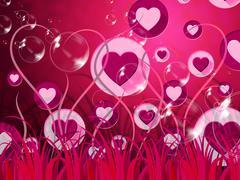 Background landscape shows valentine day and affection Stock Illustration