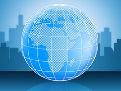 world globe represents globally globalise and global - stock illustration