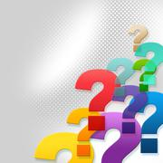 Stock Illustration of question marks represents frequently asked questions and answer