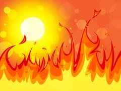 Fire copyspace represents backgrounds blaze and solar Stock Illustration