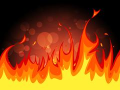Copyspace fire indicates flame blaze and fiery Stock Illustration