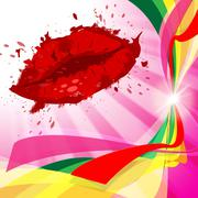 Stock Illustration of beauty lips represents make up and beautiful