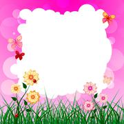 Stock Illustration of floral copyspace shows florals petal and flowers