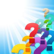 question marks indicates frequently asked questions and asking - stock illustration