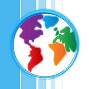 Stock Illustration of globe background represents worldly globalize and abstract