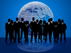 Business people means cooperation globalize and coworkers Stock Illustration