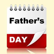fathers day indicates date daddy and celebration - stock illustration
