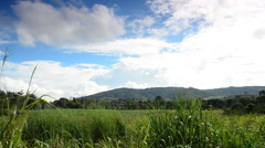 Spring valley and clouds, Nakhon Ratchasima, Thailand. HD Stock Footage