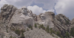 Close up Mt. Rushmore Stock Footage