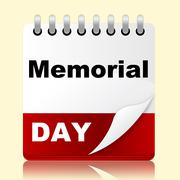 Stock Illustration of memorial day indicates america patriotism and appointment