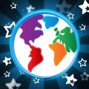 background globe indicates globalisation backdrop and abstract - stock illustration