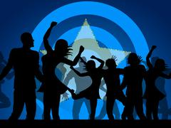 party dancing shows celebration nightclub and discotheque - stock illustration