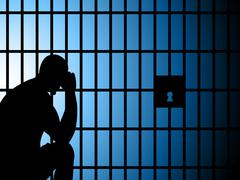 Jail copyspace represents take into custody and arrest Stock Illustration